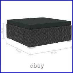 VidaXL 8x Garden Lounge Set with Cushions Poly Rattan Black Outdoor Sofa Sets