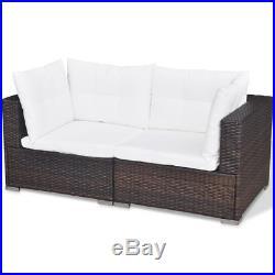 VidaXL Garden Lounge Set 14 Pieces Poly Rattan Outdoor Sofa Seat Multi Colours