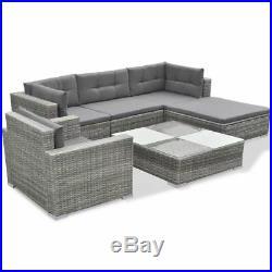 Vidaxl Garden Lounge Set 17 Pieces Poly Rattan Grey