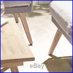 VonHaus Rope Style Rattan Sofa Set 4 Piece Garden Patio Modern Outdoor Furniture