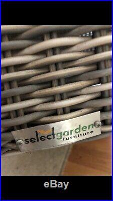 Wicker Garden Set Solid Ash Wood Garden Furniture Set 10 Seater Grey