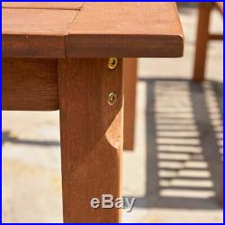 Wido TROPICANA 5 PIECE GARDEN FURNITURE SET TEAK BENCH TABLE CHAIRS OUTDOOR