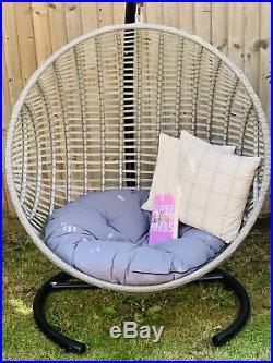 XL Cove Hanging Nest Chair Garden Egg Rattan Furniture Indoor Outdoor