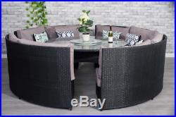 Yakoe Monaco round 8 Seater Patio dining set rattan garden furniture set