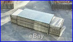 Yakoe Rattan Garden Furniture 9 Seater Corner Sofa Set Outdoors With Stools